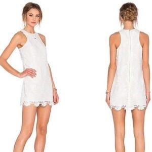 NWT Lovers + Friends Caspian White Lace Mini Dress